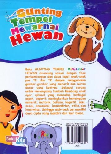 Cover Belakang Buku Gunting Tempel Mewarnai Hewan (Bilingual)