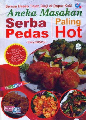Cover Buku Aneka Masakan Serba Pedas Paling Hot (full color)