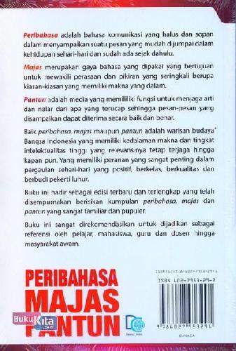Cover Belakang Buku Peribahasa Majas Pantun