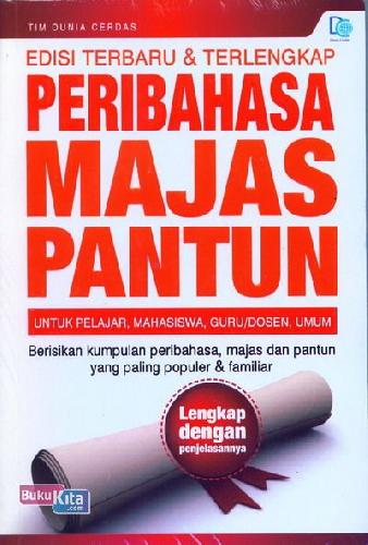 Cover Buku Peribahasa Majas Pantun