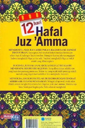 Cover Belakang Buku 12 Hari Hafal Juz 'Amma