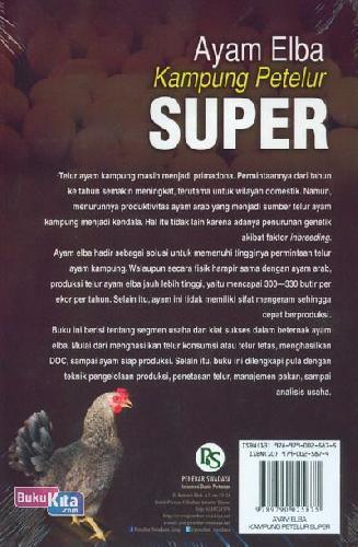 Cover Belakang Buku Ayam Elba Kampung Petelur Super