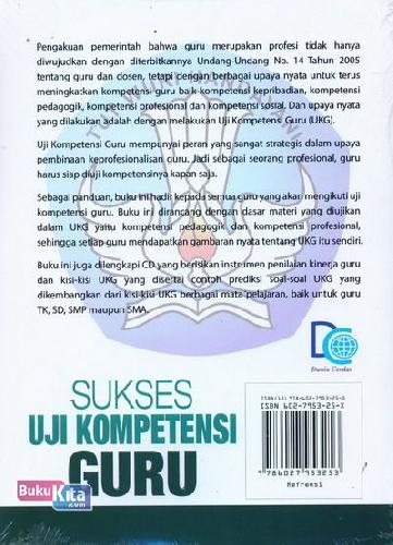 Cover Belakang Buku Sukses Uji Kompetensi Guru