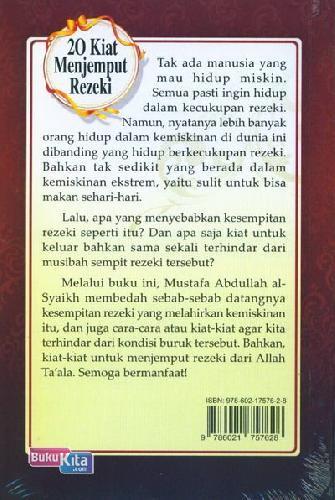 Cover Belakang Buku 20 Kiat Menjemput Rezeki