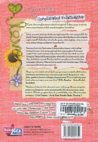 Cover Belakang Buku A Cup of Tea for Complicated Relationship