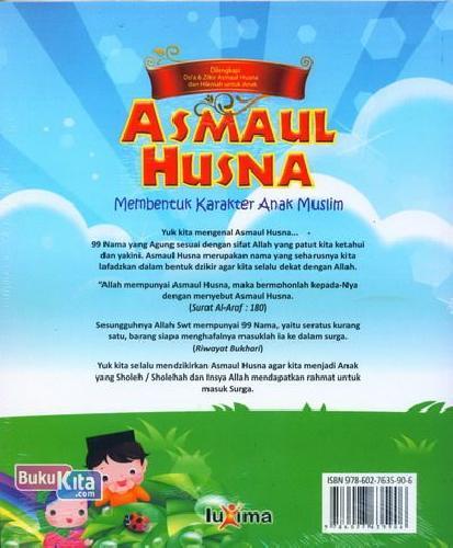 Cover Belakang Buku Buku Pintar Anak Islam Asmaul Husna
