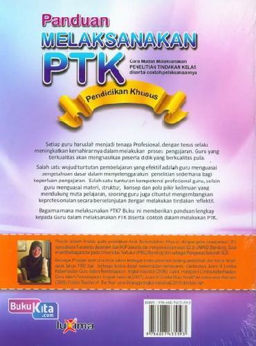 Cover Belakang Buku Panduan Melaksanakan PTK Pendidikan Khusus