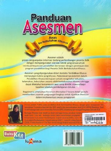 Cover Belakang Buku Panduan Asesmen Anak Berkebutuhan Khusus
