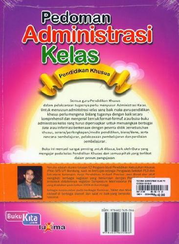 Cover Belakang Buku Pedoman Administrasi Kelas Pendidikan Khusus
