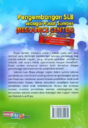 Cover Pengembangan SLB sebagai Sumber (Resource Center)