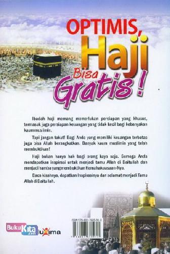 Cover Belakang Buku Optimis Haji Bisa Gratis