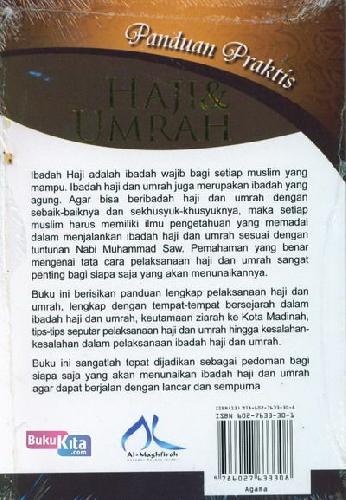 Cover Belakang Buku Panduan Praktis Haji dan Umrah