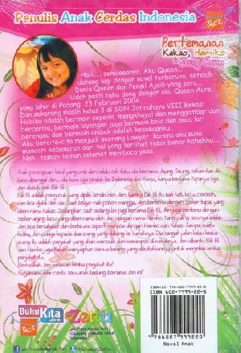 Cover Belakang Buku Pertemanan Kakao, Hamiko & Jeung Seung