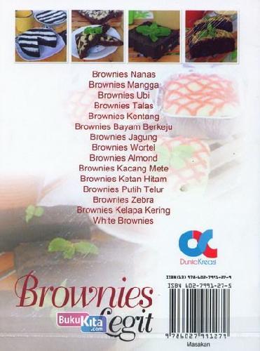 Cover Belakang Buku Brownies Legit (full color)