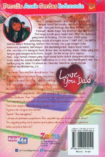 Cover Belakang Buku Love You Dad