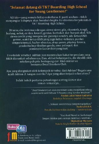 Cover Belakang Buku Dead Smokers Club Part 1