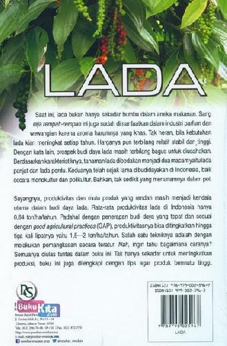 Cover Belakang Buku Lada Produksi 2 ton/ha