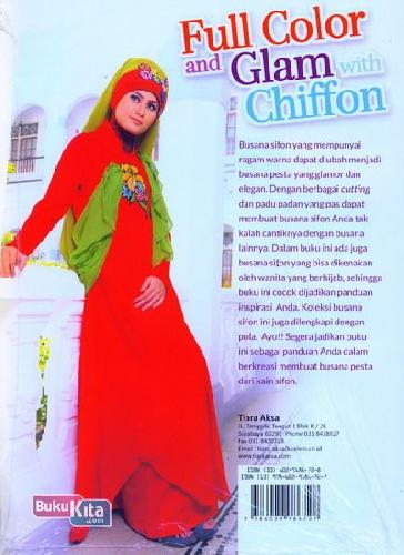 Cover Belakang Buku Full Color and Glam with Chiffon