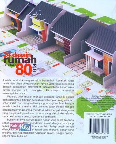 Cover Belakang Buku 24 Desain Rumah di Bawah 80 Juta 2013
