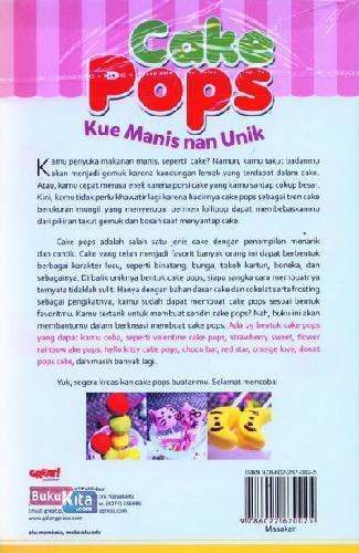 Cover Belakang Buku Cake Pops Kue Manis nan Unik