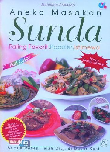 Cover Buku Aneka Masakan Sunda Paling Favorit, Populer, Istimewa