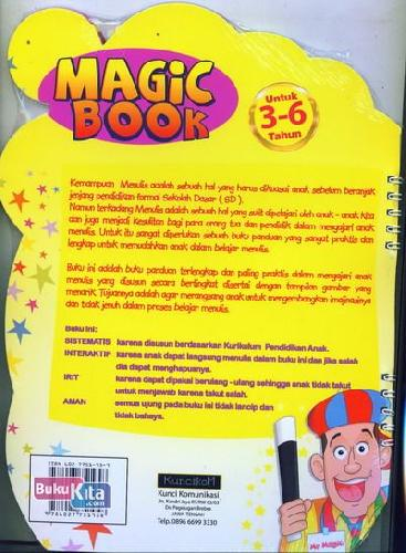 Cover Belakang Buku Magic Book Menulis Huruf dan Membaca