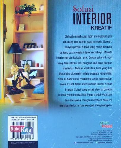 Cover Belakang Buku Solusi Interior Kreatif