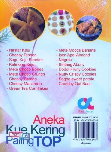 Cover Belakang Buku Aneka Kue Kering Paling Top (full color)
