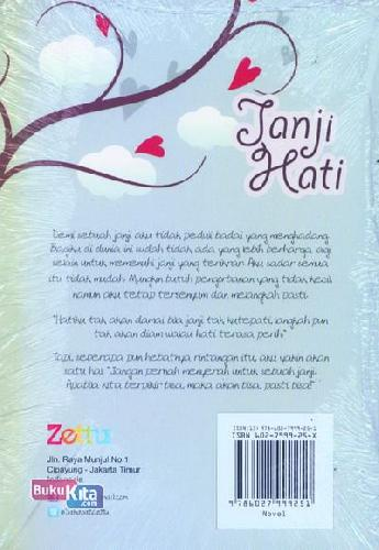 Cover Belakang Buku Janji Hati