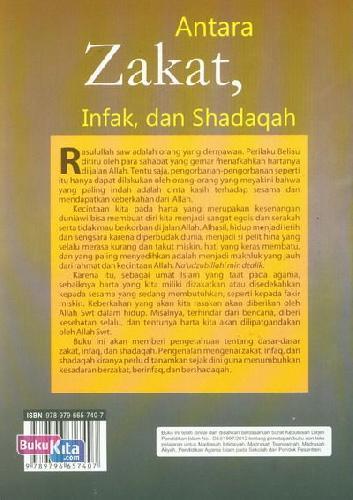 Cover Belakang Buku Antara Zakat. Infak. dan Shadaqah