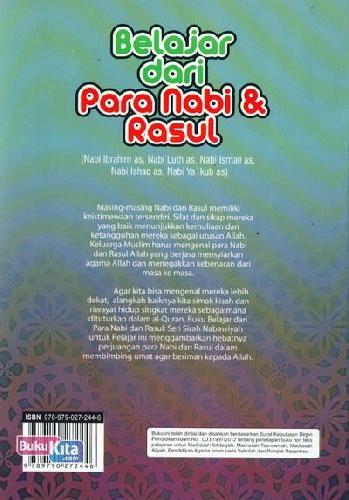 Cover Belakang Buku Belajar dari Para Nabi & Rasul 2