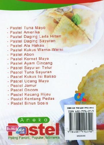 Cover Belakang Buku Aneka Pastel Paling Favorit, Populer, Istimewa (full color)