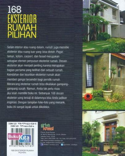 Cover Belakang Buku 168 Eksterior Rumah Pilihan