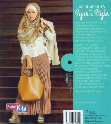 Cover Belakang Buku Me N My Hijab Syar'i Style