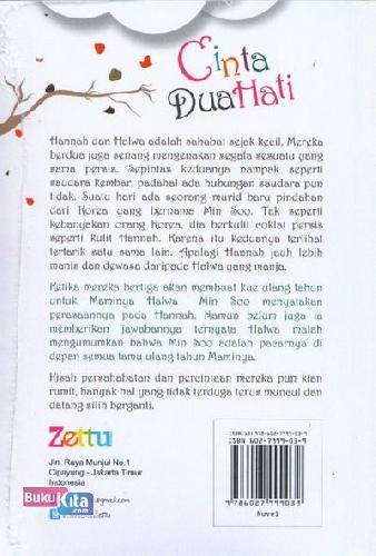 Cover Belakang Buku Cinta Dua Hati