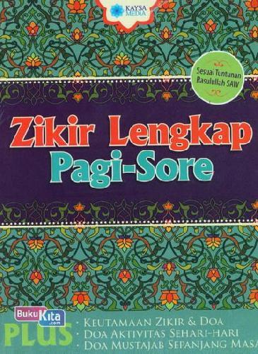 Cover Buku Zikir Lengkap Pagi-Sore
