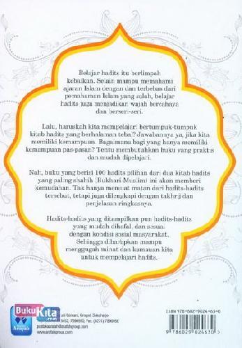 Cover Belakang Buku 100 Hadits Shahih Bukhari-Muslim Pilihan