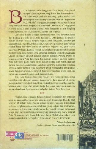 Cover Belakang Buku Sejarah Asia Tenggara : Dari Masa Prasejarah Sampai Kontemporer