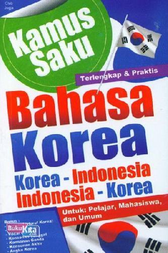 Cover Buku Kamus Saku Bahasa Korea
