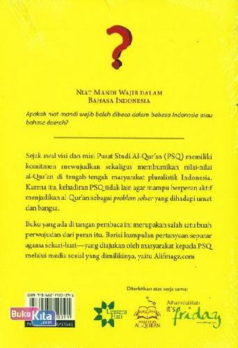 Cover Belakang Buku Quran Answer 101 Soal Keagamaan Sehari-hari