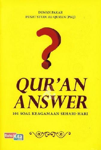 Cover Buku Quran Answer 101 Soal Keagamaan Sehari-hari