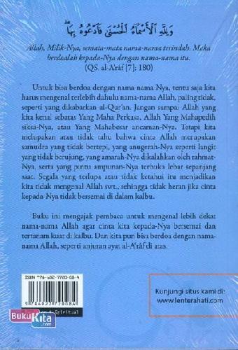 Cover Belakang Buku al-Asma al-Husna Mengenal Nama-Nama Allah
