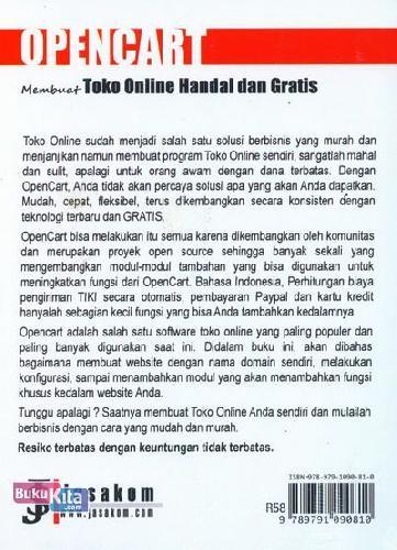 Cover Belakang Buku OpenCart : Membuat Toko Online Handal dan Gratis