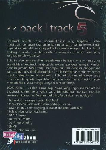 Cover Belakang Buku BackTrack 5 R3 : 100% Attack