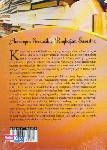 Cover Belakang Buku Ancangan Semiotika dan Pengkajian Susastra (Cover Baru)