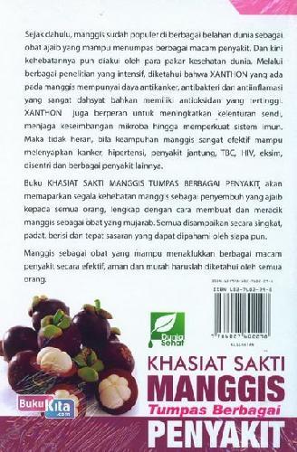 Cover Belakang Buku Khasiat Sakti Manggis Tumpas Sebagai Penyakit