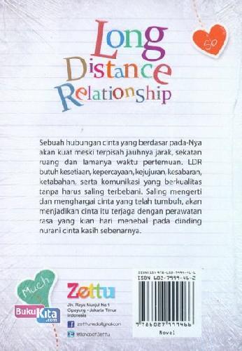 Cover Belakang Buku Long Distance Relationship : Cinta sejati tak berhitung jarak, ruang, waktu