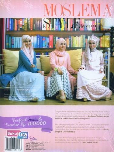 Cover Belakang Buku Moslema Style by Aprilia
