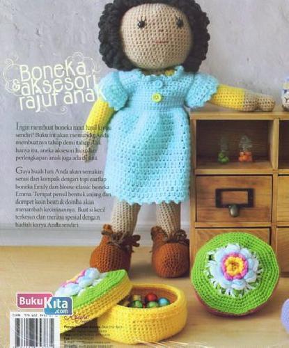 Cover Belakang Buku Boneka dan Aksesori Rajut Anak