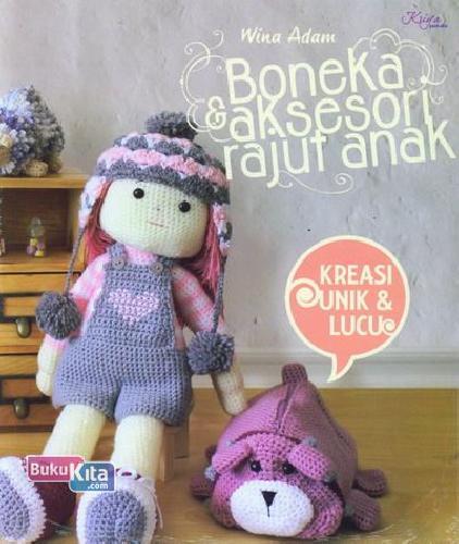 Cover Buku Boneka dan Aksesori Rajut Anak